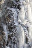 Icefall i morgonljus Arkivfoton