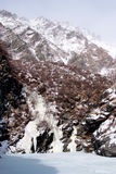 Icefall in mountains Stock Images