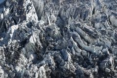 Icefall of north Annapurna mountain glacier. Icefall of north Annapurna mountain glacier, Himalayas, Nepal. Version 2 stock photo