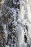 Icefall in Ochtendlicht Stock Foto's