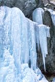 Icefall on a rock wall. Huge icefall on a rock wall royalty free stock images