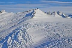 Icefield da montanha da geleira de Mendenhall Fotos de Stock Royalty Free