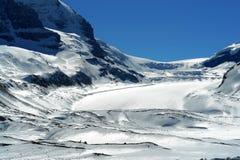Icefield en gletsjers Royalty-vrije Stock Afbeelding