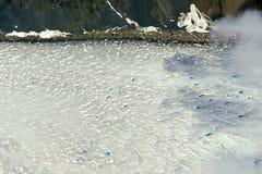 Icefield kant med blå tips, Kluane nationalpark, Yukon Arkivfoton