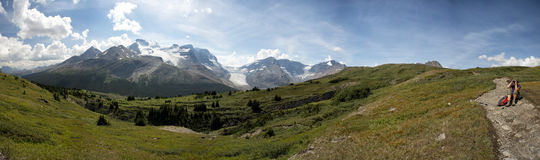 Icefield Park glacier view Stock Photography