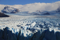 Icefield at Perito Moreno Glacier in Patagonia Royalty Free Stock Photo