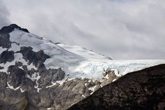 Icefields на верхней части гор побережья около Skagway, AK Стоковые Фотографии RF