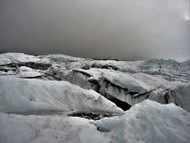 Icefields da geleira fotografia de stock