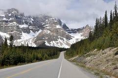 Icefields gångallé, huvudväg 93, Alberta (Kanada) Fotografering för Bildbyråer