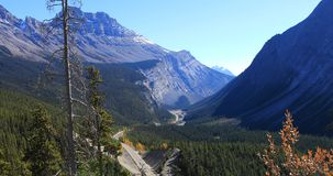 Icefields Highway through Rocky Mountains, Canada. The Icefields Highway through Rocky Mountains, Canada royalty free stock photo