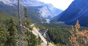 Icefields Highway through Rocky Mountains 4K. The Icefields Highway through Rocky Mountains 4K