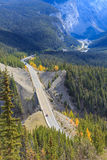 Icefields Parkway, Alberta, Canada. The Icefields Parkway also known as Highway 93 north, is a scenic road in Alberta, Canada. It parallels the Continental Stock Photo