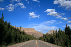 Icefields Parkway in Banff National Park Stock Photography