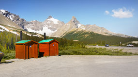 Icefields Parkway, Canada Travel Route Stock Image