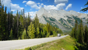 Icefields Parkway, Canada Travel Route Stock Photo
