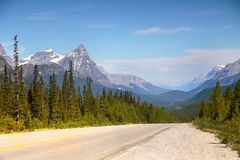 Icefields Parkway, Canada Travel Route Royalty Free Stock Photos