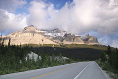 Icefields Parkway in Canadian Rockies Royalty Free Stock Image