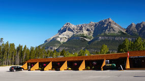 Icefields Parkway Crossing Resort Canada Stock Photo