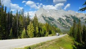 Icefields Parkway, Kanada podróży trasa Zdjęcie Stock