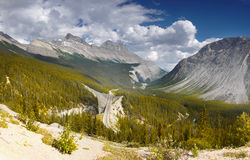 Icefields Parkway, Rocky Mouintains Landscape Royalty Free Stock Photos