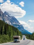 Icefields Parkway Route Between Banff and Jasper National Parks, Alberta, Canada royalty free stock image
