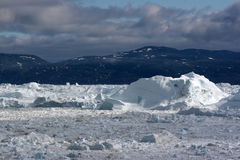 icefjord ilulissat κοντά στην όψη Στοκ Φωτογραφία