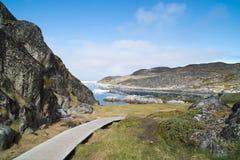 Icefjord Ilulissat, Grönland Stockbild