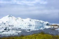 Icefjord Ilulissat, Groenland stock foto