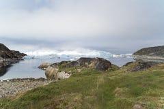 Icefjord Ilulissat, Groenland royalty-vrije stock afbeeldingen