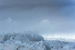 Icefjord Ilulissat, Groenland royalty-vrije stock foto