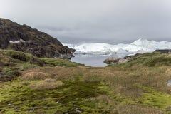 Icefjord Ilulissat, Groenland stock fotografie