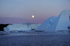Icefjord Ilulissat Nordgrönland Stockbild