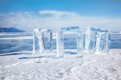 Icehange - stonehenge made from ice Stock Photo