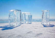 Icehange - stonehenge made from ice Royalty Free Stock Images