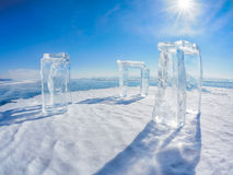 Icehange - stonehenge made from ice Stock Photos