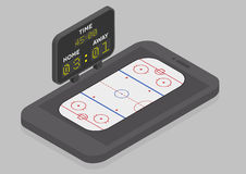 Icehockey Mobile Phone Royalty Free Stock Images