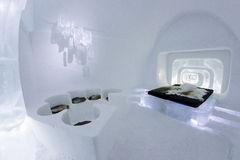 Icehotel dans le jukkasjarviç sweden Photo libre de droits