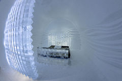 Icehotel dans le jukkasjarviç sweden Images libres de droits