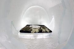 Icehotel en jukkasjarviç suecia Imagen de archivo libre de regalías