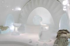Icehotel en jukkasjarviç suecia Fotos de archivo libres de regalías