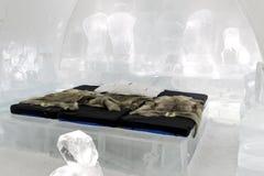 Icehotel en jukkasjarviç suecia Foto de archivo libre de regalías