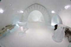 Icehotel in jukkasjarviç zweden Stock Foto's