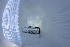 Icehotel in jukkasjarviç zweden Royalty-vrije Stock Afbeeldingen