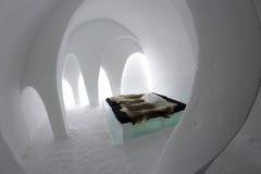 Icehotel in jukkasjarviç zweden Royalty-vrije Stock Foto
