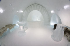 Icehotel in jukkasjarviç. Sweden Stock Photos