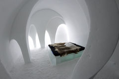 Icehotel in jukkasjarviç. Sweden Royalty Free Stock Photo