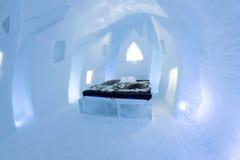 Icehotel nel jukkasjarviç sweden Immagini Stock