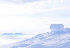 Icehouse ovanför molnen Royaltyfri Fotografi