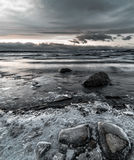 Icelake. A wide angle shot of Norways greates lake in winter Stock Photography
