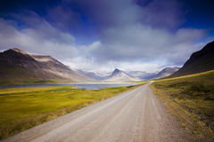 Iceland湖横向 免版税库存照片